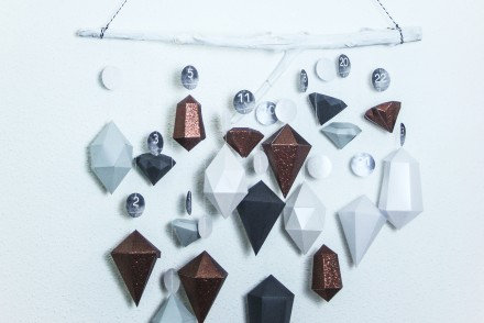 advent calendar christmas 2015 diy homemade diamonds