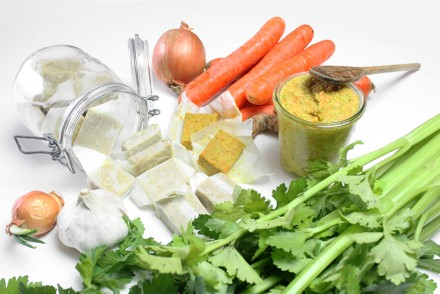 vegetable stock cubes that are homemade